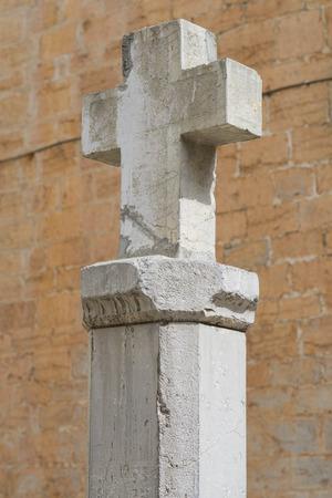 石造りを十字します。