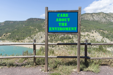enviroment: Care about the enviroment. Stock Photo