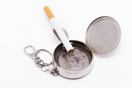 tabaco: Cenicero de bolsillo.