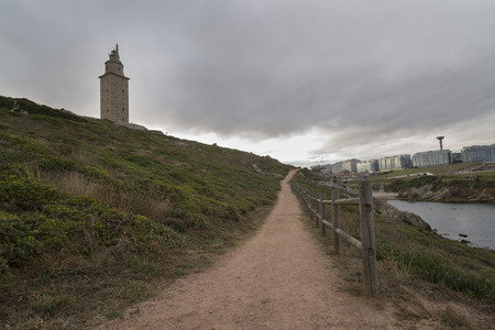 hercules: Tower of Hercules La Coruna, Spain. Stock Photo