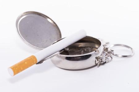 ashtray: Pocket ashtray. Stock Photo