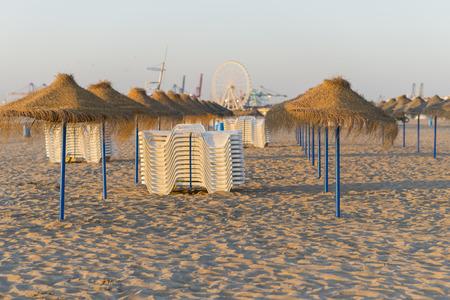 parasols: Beach parasols.