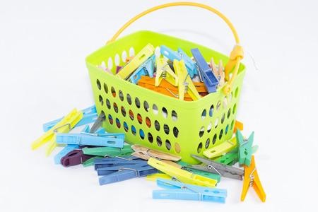 clothespins: Clothespins. Stock Photo