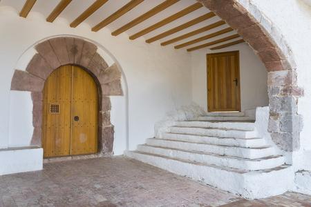 magdalena: Entrance to Santa Magdalena hermitage Castellon, Spain. Stock Photo