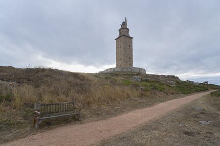 hercules: Hercules tower La Coruna, Spain.