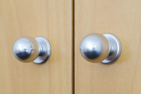 closet door: Handles. Stock Photo