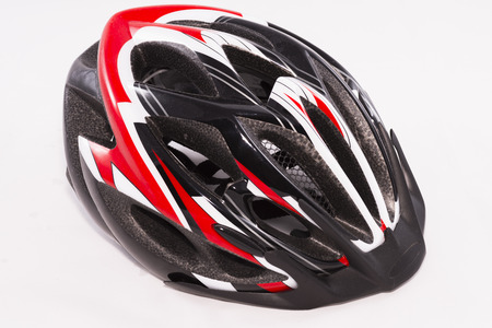 bicycle helmet: Bicycle helmet. Stock Photo