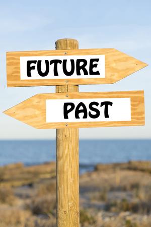 Future, past. 스톡 콘텐츠