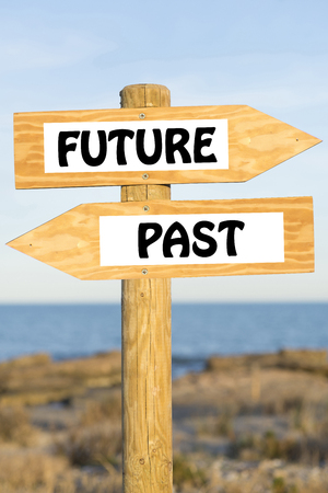 Future, past. Stok Fotoğraf