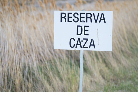 the game reserve: Game reserve in spanish. Stock Photo
