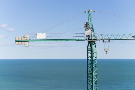 housing crisis: Crane work.