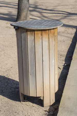 public waste: Wooden trash.