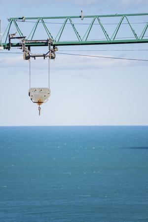 housing crisis: Work crane.