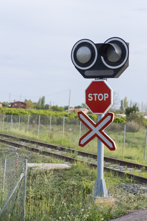 a level: Level crossing.
