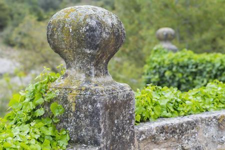 bollard: Stone bollard.