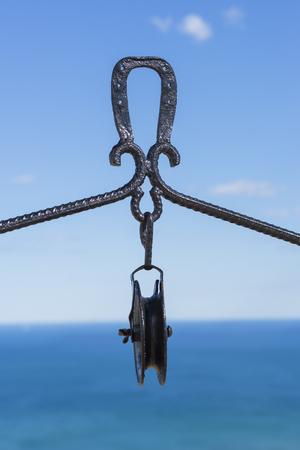 polea: Detalle de una polea. Foto de archivo