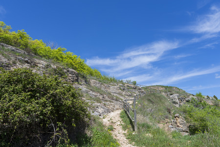 hiking trail: Hiking trail. Stock Photo