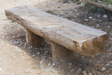 wooden bench: Wooden bench.