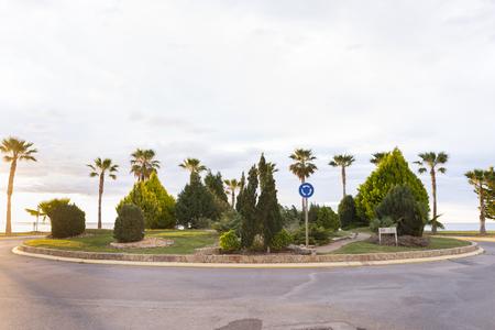 roundabout: Marina Dor roundabout Oropesa, Castellon - Spain.