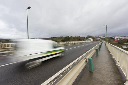 fast lane: Car on motion.