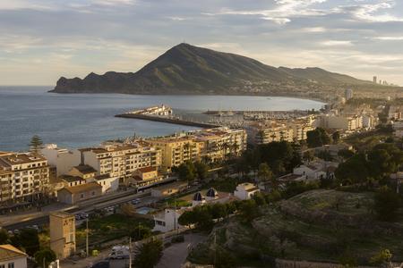 altea: Altea coast Alicante, Spain. Stock Photo