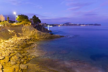 violet residential: Coast of Calpe Alicante, Spain.
