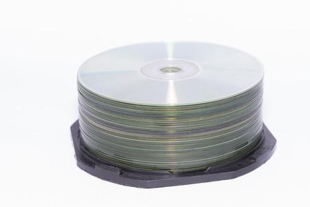 cds: CDs on white background
