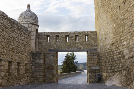 fortification: Fortification of Morella Castellon, Spain.
