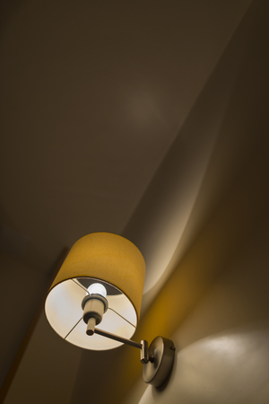 bedside lamps: Wall lamp.