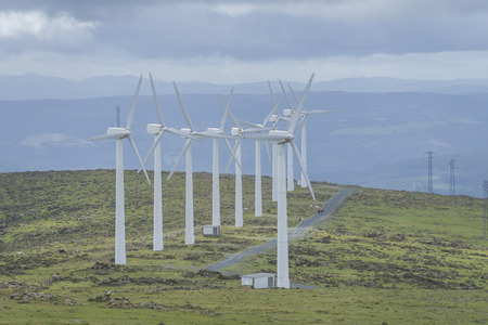 inexhaustible: Wind farm. Stock Photo