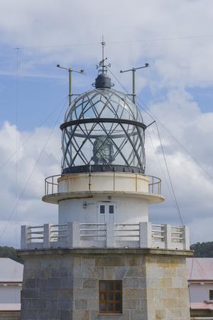 lighthouse keeper: Estaca de Bares lighhouse La Coruna, Spain. Stock Photo