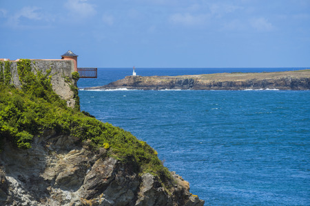 strong base: Ribadeo fort Lugo, Spain. Stock Photo
