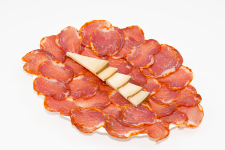iberian: Iberian loin and cheese. Stock Photo