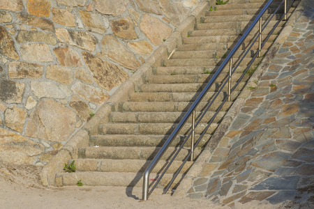 beach access: Stone stairs. Stock Photo