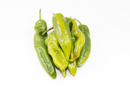 peppers: Green peppers. Stock Photo