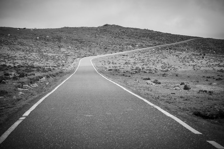 the old road: Old road. Stock Photo