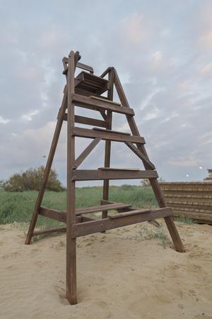 vigilant: Chair baywatch. Stock Photo