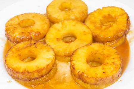 caramelized: Caramelized pineapple.