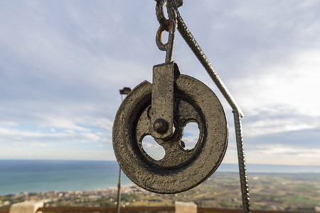 pulley: Pulley. Stock Photo