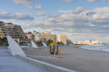 Playground at Morro de Gos beach (Oropesa del Mar, Castellon-Spain).