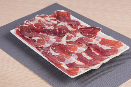 cold cure: Iberian ham. Stock Photo
