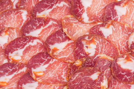 iberian: Iberian loin texture. Stock Photo