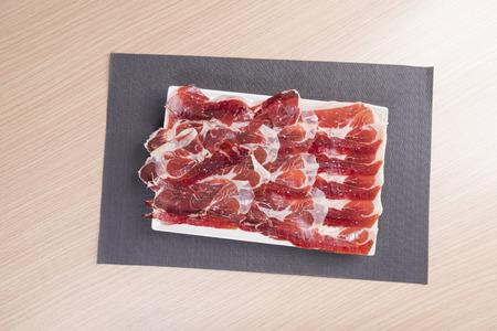 cold cure: Iberian ham. Stock Photo
