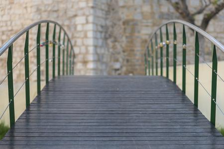 wooden bridge: Wooden bridge. Stock Photo