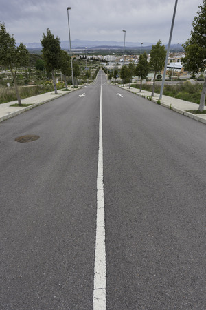 solid line: Street in Cabanes (Castellon, Spain).