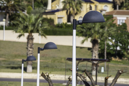 artificial lights: Street lights. Stock Photo