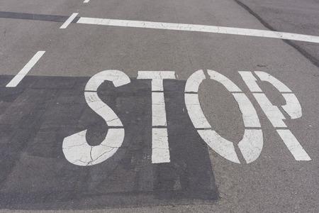 stop signal: Stop signal.