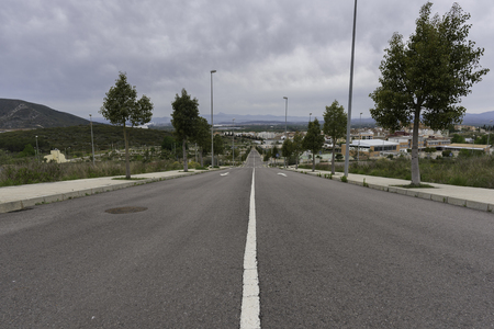 solid line: Street of Cabanes (Castellon, Spain).