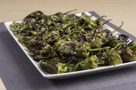 Padron peppers. Stock Photo