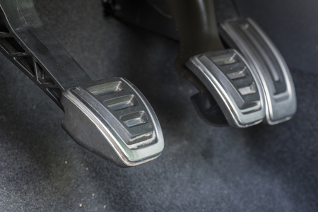pedals: Car pedals. Stock Photo
